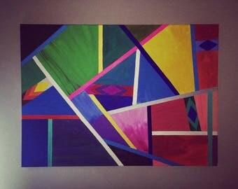 Colourful Dilemma, acrylic on canvas, 65cmx90cm
