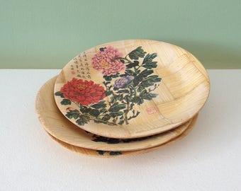 Set of 3 mini bamboo plates