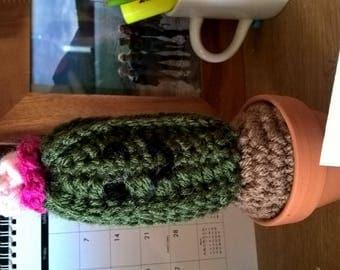 Cactus-Gram//Crochet Cactus in a Pot