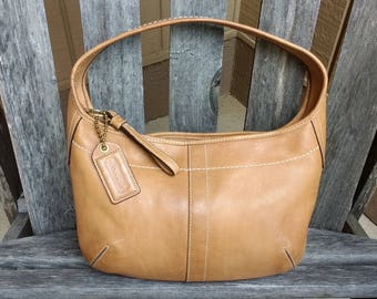 Vintage Coach 10739 Ergo Tan Soft Leather Medium Shoulder Bag Handbag Purse
