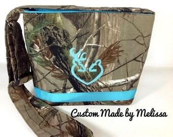 Hunting Camo CrossBody Tote, Handbag, Purse, Bag, Custom, Handmade