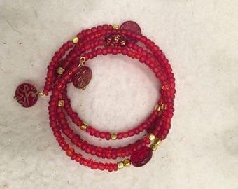 Arabic prayer bead memory wire bracelet