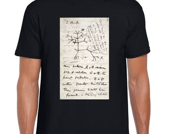 Biology gift - Science shirt with Darwin's evolutionary tree sketch