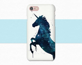 Unicorn Phone Case, Unicorn iPhone Case, iPhone 7 Plus Case, iPhone 7 Unicorn, Space Unicorn, iPhone 6 Unicorn, Blue Unicorn, Horse Case