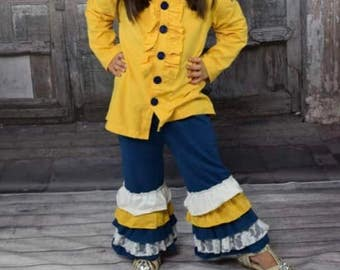 Navy & Yellow outfit