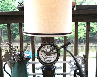 Vintage Baldwin-Brockett Ship Chandlery Lamp | Vintage Brass Ship Telegraph Lamp | Nautical Themed Lamp | Nautical Decor | Beach House Decor
