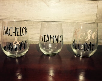 The Bachelor Wine Glasses