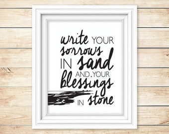 Write Your Sorrow in Sand Wall Art