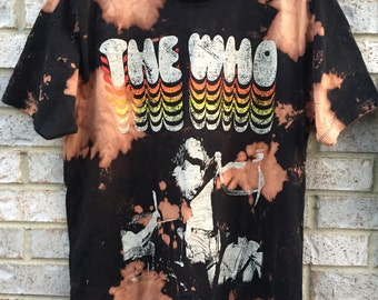 Vintage Inspired Bleached The Who T-Shirt