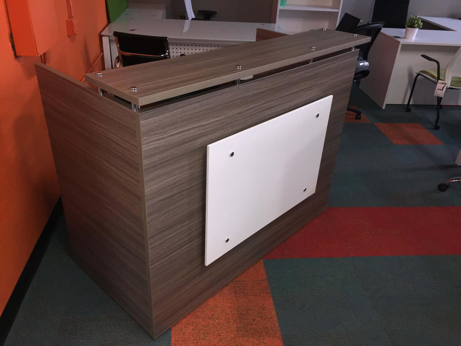Sand Reception Desk Shell 30 By 60 Inch