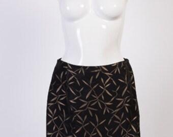 Vintage skirt,Black mix skirt,  skirt, Mini skirt, Vintage 90 s skirt,Thin skirt,Size 14
