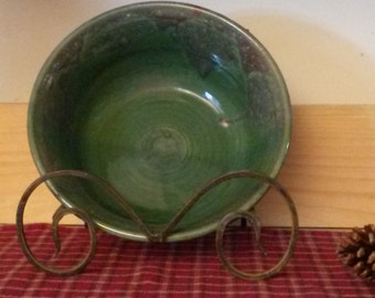 Spring green pottery bowl, handmade green serving bowl, ceramic bowl, large bowl, pottery bowl, pottery centerpiece, large pottery bowl