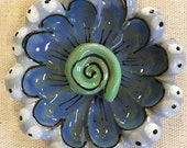 Shades of Blue 3D Flower ...