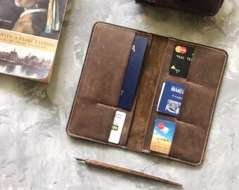 Passport wallet Passport holder leather Travel wallet Leather wallet Passport sleeve Multiple passport holder Passport wallet mens mens gift
