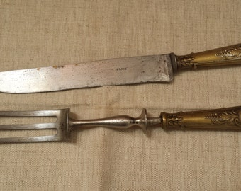 Vintage French ' Parisian'  large knife and fork set