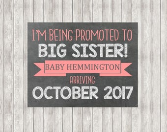 Digital Promoted To Big Sister Announcement | Pregnancy Announcement | Baby Announcement