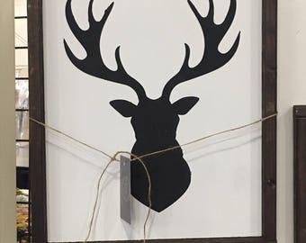 Deer head sign