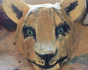 Handpainted lioness art mask FREE SHIPPING!