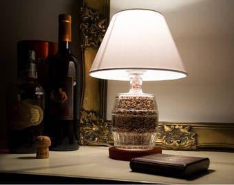 Bottle lamp shade glass artisan handmade barrel bottle lamp