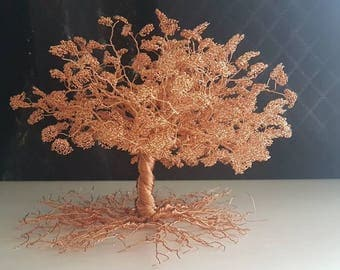 Twisted Copper Wire Tree Of Life Bonsai