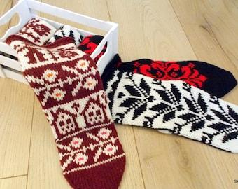 SALE Wool socks Knitted handmade socks, Gift socks, Knit slippers, Hand knitted wool socks, Soft and warm, Knitted gift, Woolen female socks