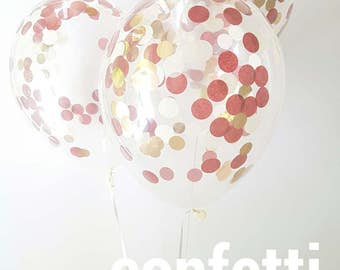 Confetti Balloons Wine & Gold , choose from 3 sizes, 30cm, 43cm and jumbo 90cm