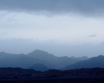 Amargosa Range in Twilight matted fine art archival print