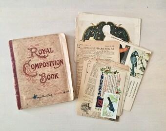 Vintage Bird Scrapbook