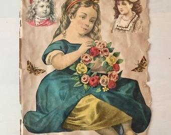 Victorian Era Scrapbook page- Die cuts