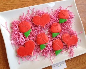 Rose & Hearts Cookies