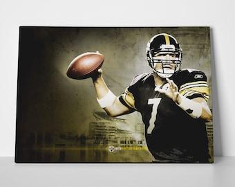 Ben Roethlisberger Limited Edition 24x36 Poster | Ben Roethlisberger Canvas