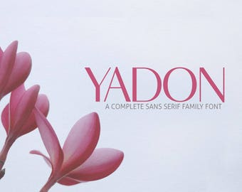 ON SALE | Yadon Sans Serif Typeface