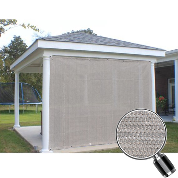 Custom Sized Sun Shade Privacy Panel With Grommets On 2 Sides