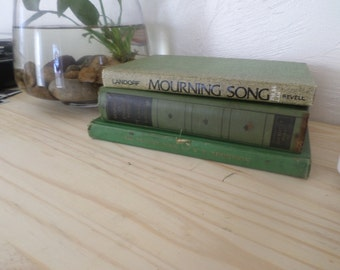 Vintage Green Book Stack