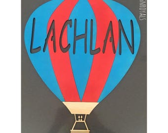 Personalised Air Balloon Wall Plaque