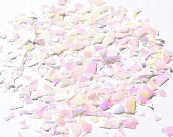 100 g / 79,50Euro - dust GlitzerPulver Hexagon Mylar white iridescent mix of glitter 3 g tinker craft new iridescent