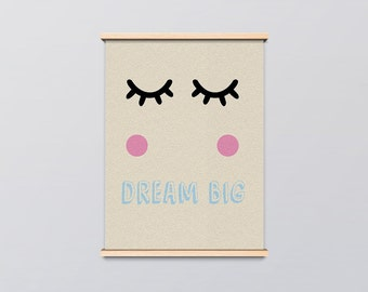 Dream Big Childrens Playroom Print Image Graphic Design Home