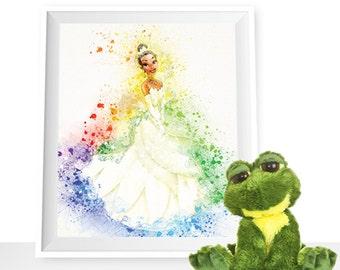 80%OFF Princess Tiana wall art Tiana Watercolor The Princess and the Frog printable Disney Princess Art Print Tiana Disney Wall Art Disney