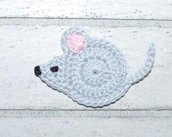1 mouse - mouse - patches - crochet - application