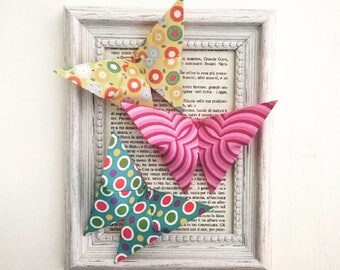 Butterfly painting origami Free Shipping Italy