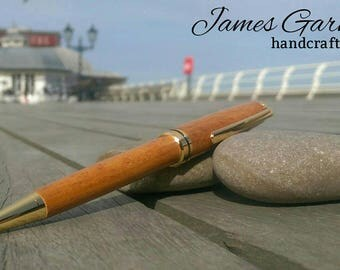24kt Cromer pier wooden pen, made from wood from Cromer pier, great gift for father's day, anniversary,