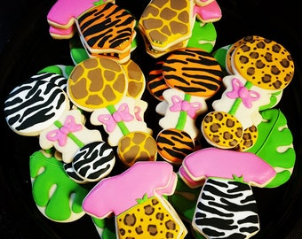 Safari Baby Shower cookies
