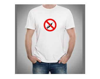 Anti-Vaccine Movement symbol man t shirt