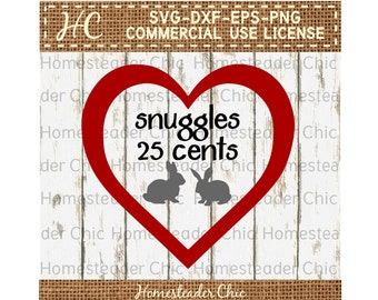 Rabbit SVG Snuggles 25 Cents Baby Bunnies SVG - baby bunny svg -Easter bunny svg - Easter svg -Easter rabbit svg-cut file-baby farm animals