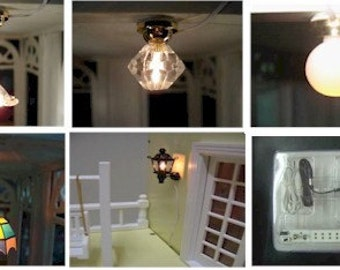 1:12 Scale Dollhouse Miniature Lighting starter set