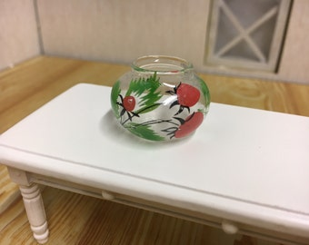 Dolls house miniature goldfish bowl