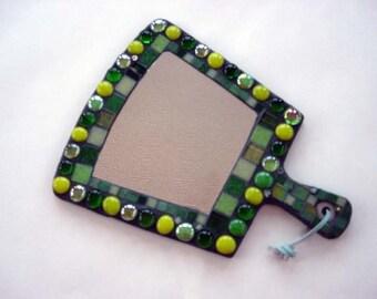 Mosaic green mirror