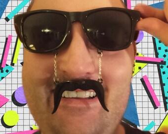 Novelty Moustache Sunglass // Sunnies // Mustache // Banter // Ideal for Festival // Fancy dress