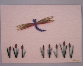 Paper Quilled Dragonfly Card
