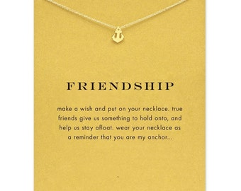Beautiful and fun Gold friendship necklace